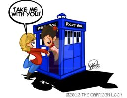 Doctor Who and Jess by TheCartoonLoon