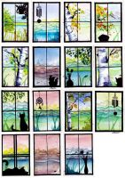 Windows: Watercolor and Ink Series by indigowarrior