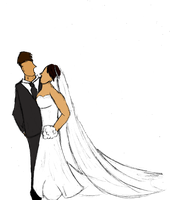 The Bride and the Groom-Flat by Ramvling