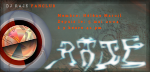 DJ Raje fanclub card by dijimucks