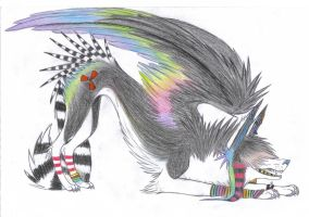 RAINBOW WINGSS 8D by Evil-Rainbow-wolfie