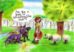 Spyro in Avalar again by YunakiDraw