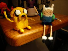 Clay Time with Finn and Jake by SophiePants