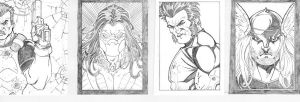 Blue Line Pro Sketch Cards by Mulv