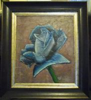 Blue Rose Framed by FireWolfWitch