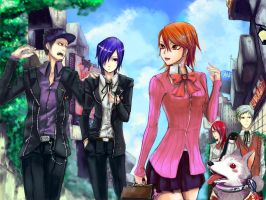 Let'go home persona3 by Qkung