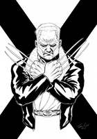 Old Man Logan inks by TimRees