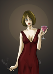 The saddest girl to ever hold a martini by KelpyKrad