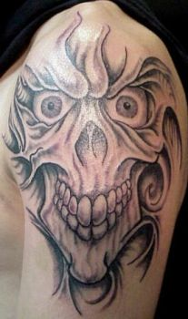 Fleshy Flash Skull by Mr-Taboo