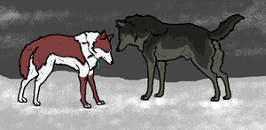 Dossombre and Kida (art trade) by WhiteWolfCrisis13
