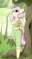 Forest Fluttershy by TesslaShy