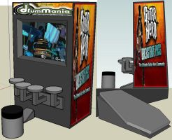 Arcade Drum Game improved by turnbuckle