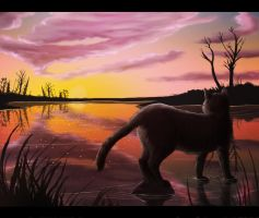 Sunset over Riverclan by heylorlass