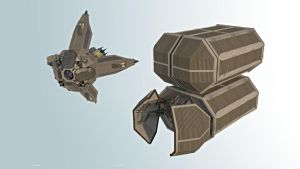 wasp- Whide Area Space Projectile (WIP) by demigogos