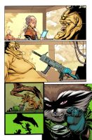 Rocket Raccoon and Groot colors by timothygreenII