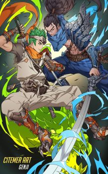 GENJI AND YASUO by citemer