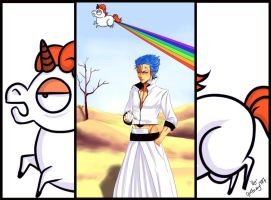 Grimmjow_UniShitRainbow by FryFridaY