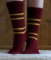 House Socks - Gryffindor by Miharu-Miracle