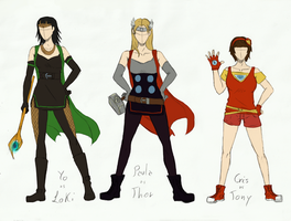Avenger's female designs by LenaKuroHana