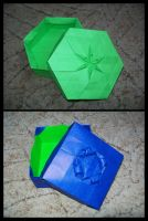 Tessellated Origami Boxes by lonely--soldier