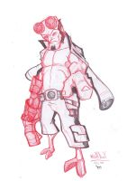 hellboy sketch.. by Dekka-93