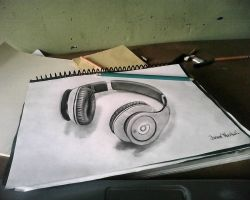 Beats 3d drawing by hhjosue
