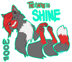 Shine the Cheshire wolf by PenguinEatsCarrots