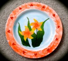 Hand-Painted Plate 1 by BeeBeeBeee