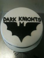 Team Dark Knights Cake - top by Spudnuts