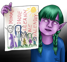 Melusine's Drawing by Little-Orca