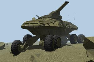 All terrain main battle tank by Scifiwarships