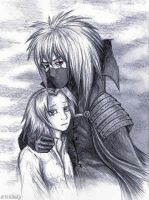 Sakura and Kakashi the Goblin King by WhiteK9