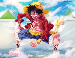 Luffy  - Gear Second by KhalilXPirates