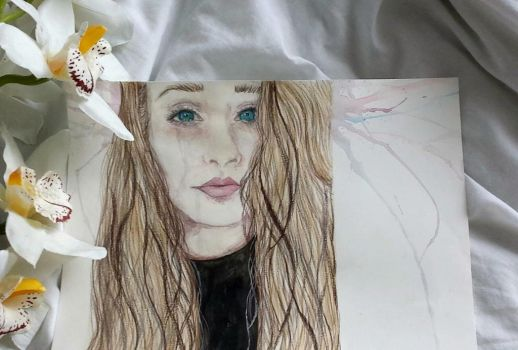 Lindsey Painting | Watercolour and Pencils | by annamariiart