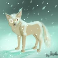 Wolf and winter by Arjello