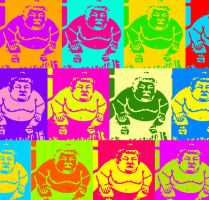 Sumo Pop Art by AreibianDanzr