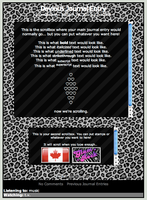 LEOPARD Print Journal CSS by starchild-rocks