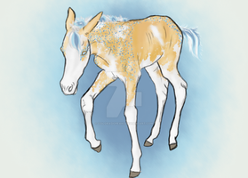 4932 Rockin' Blues as a Foal by Moved-Account