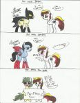 Art meets Batpony, Superpony, and the Joker by ProudMuggle