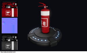 Low-Poly Fire Extinguisher by adijs