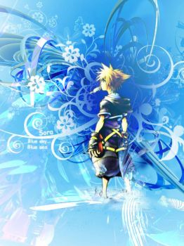 Sora - Kingdom Hearts by cherryfoxy69