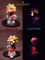 Zombie Simpsons MAGGIE by Undead Ed Glows in the D by Undead-Art