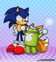 Sonic Loves Androids by angus