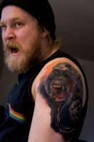 Zombie Monkeys sleeve started! by grimmy3d