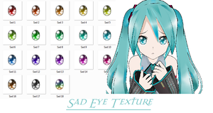 Sad Eyes Texture- DL by MMDFakewings18