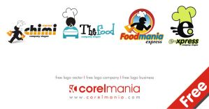 4 Free logo Fad Food by corelmania