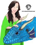 Girl And Dragon - Wip by Esevans