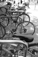 Black and White Bikes by SlamDunkin