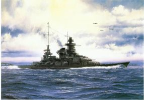 KMS BB Scharnhorst At Sea by Imperialist007