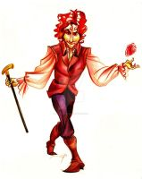 Red Rumple by psionicbird